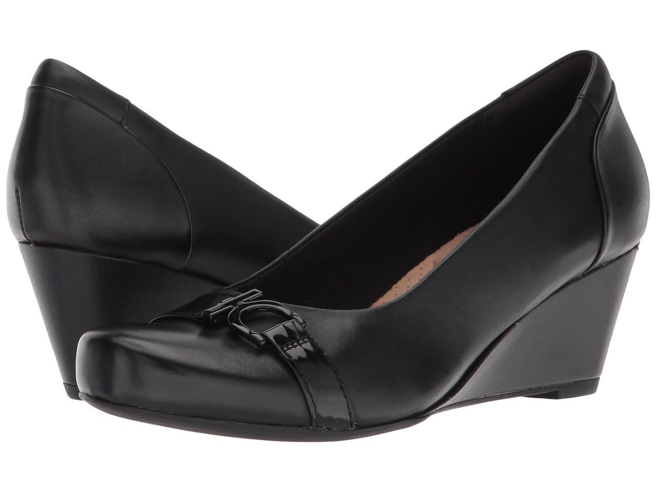 Туфли на каблуке (Оригинал) Clarks Flores Poppy Black Leather