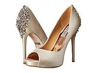 Туфли на каблуке (Оригинал) Badgley Mischka Kiara Ivory Satin, фото 1