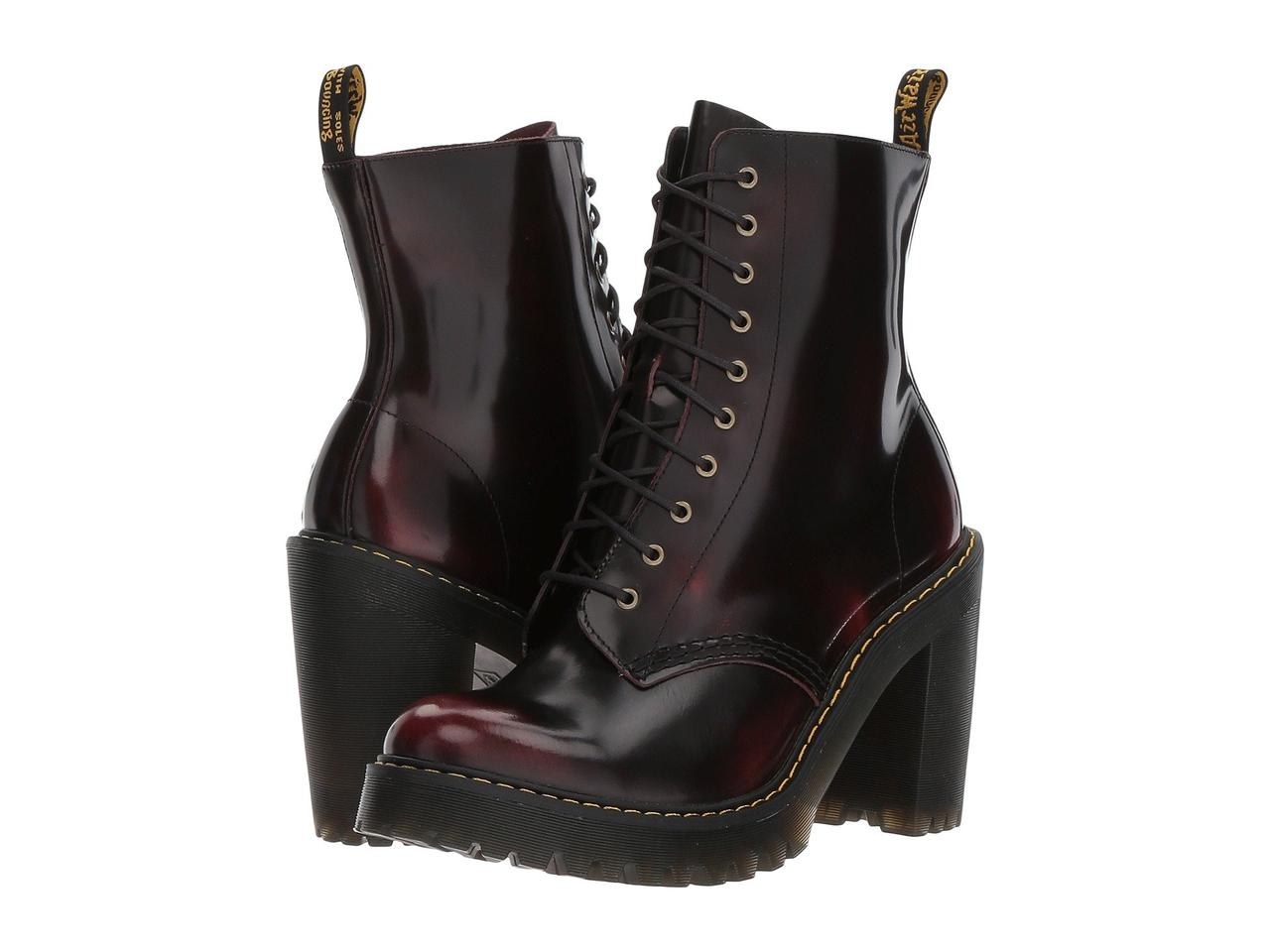 Ботинки/Сапоги (Оригинал) Dr. Martens Kendra 10-Eye Boot Cherry Red/Arcadia