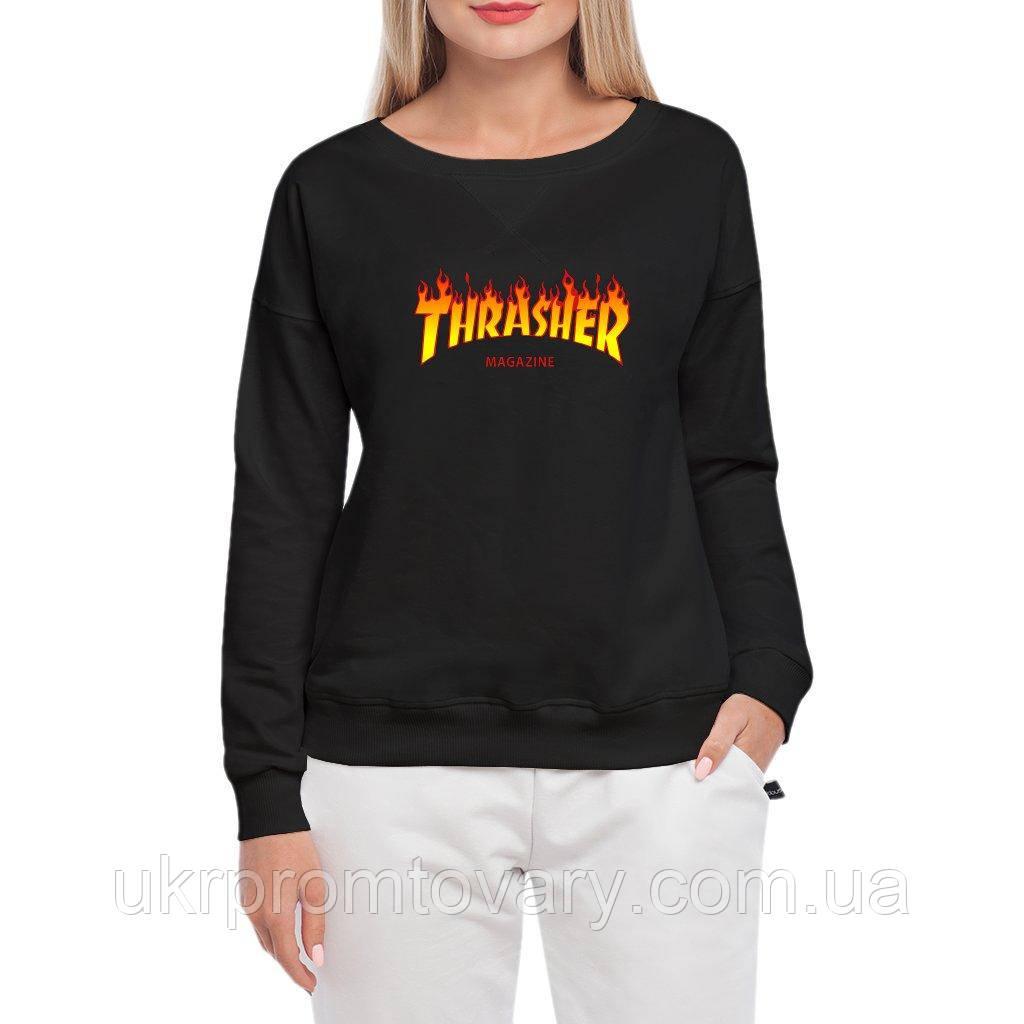 Свитшот женский - thrasher  fire, отличный подарок купить со скидкой, недорого