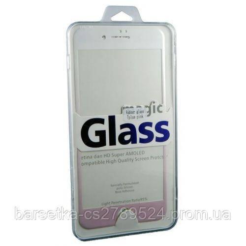 Защитное 3D стекло Rubber 3D для Apple iPhone 7 Plus, розовый