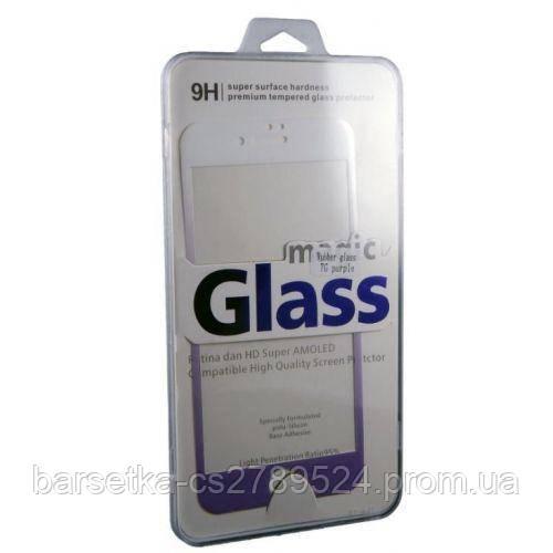 Защитное 3D стекло Rubber 3D для Apple iPhone 7, фиолетовый