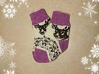 Детские новогодние носочки с оленями, 12 см