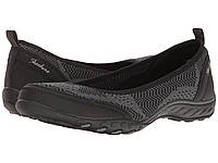 Туфли без каблука (Оригинал) SKECHERS Breathe-Easy - Symphony Black, фото 1