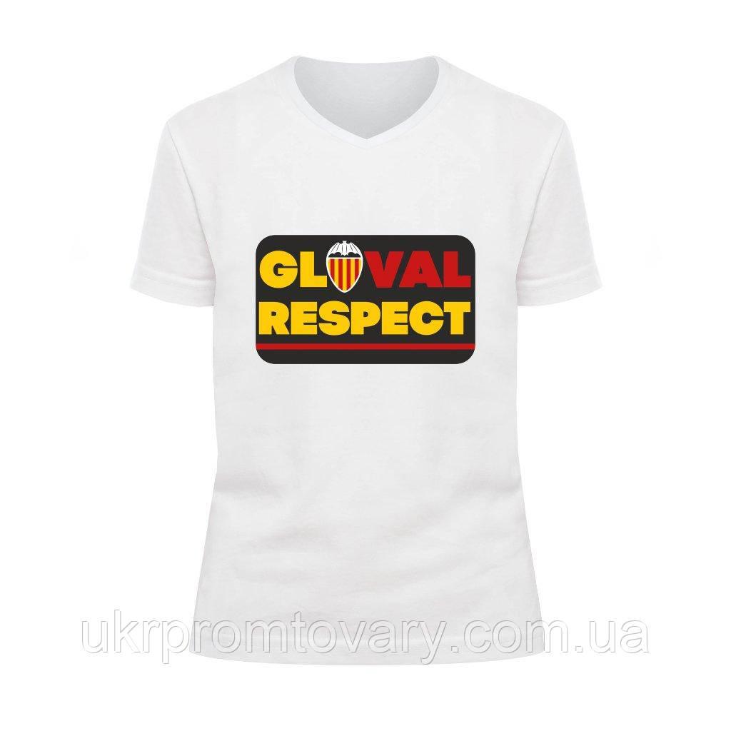 Футболка детская V-вырезом - Gloval respect, отличный подарок купить со скидкой, недорого