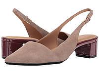 Туфли на каблуке (Оригинал) Calvin Klein Galinda Winter Taupe Kid Suede, фото 1