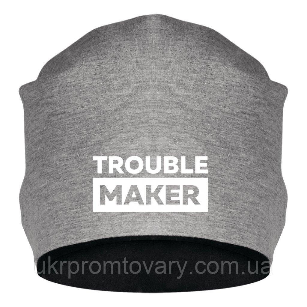 Шапка - Trouble maker, отличный подарок купить со скидкой, недорого