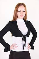 Женское болеро с длинным ажурным рукавом