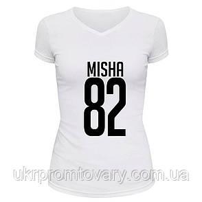 Футболка женская V-вырезом - Misha82, отличный подарок купить со скидкой, недорого, фото 2