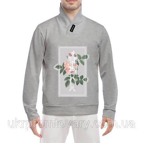 Толстовка - Роза и скелет, отличный подарок купить со скидкой, недорого, фото 2