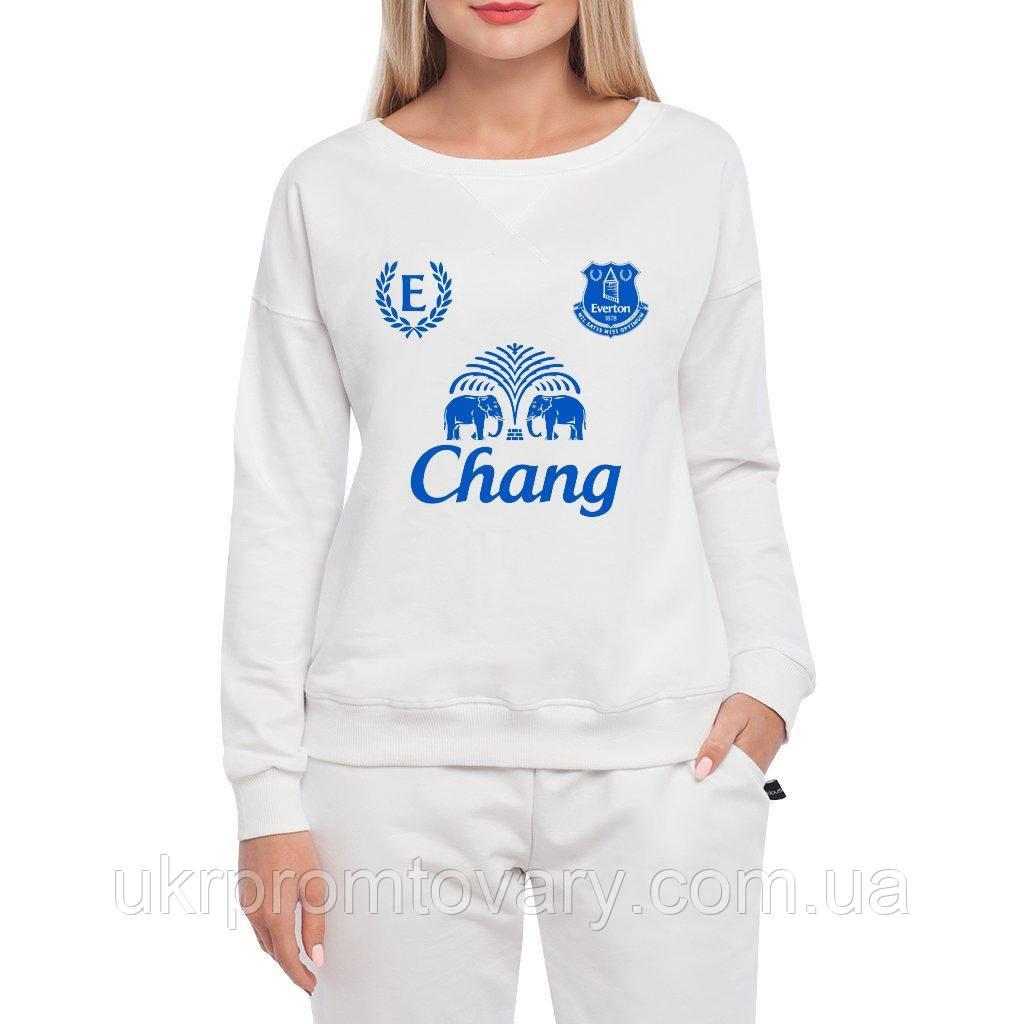 Свитшот женский - Everton uniform, отличный подарок купить со скидкой, недорого