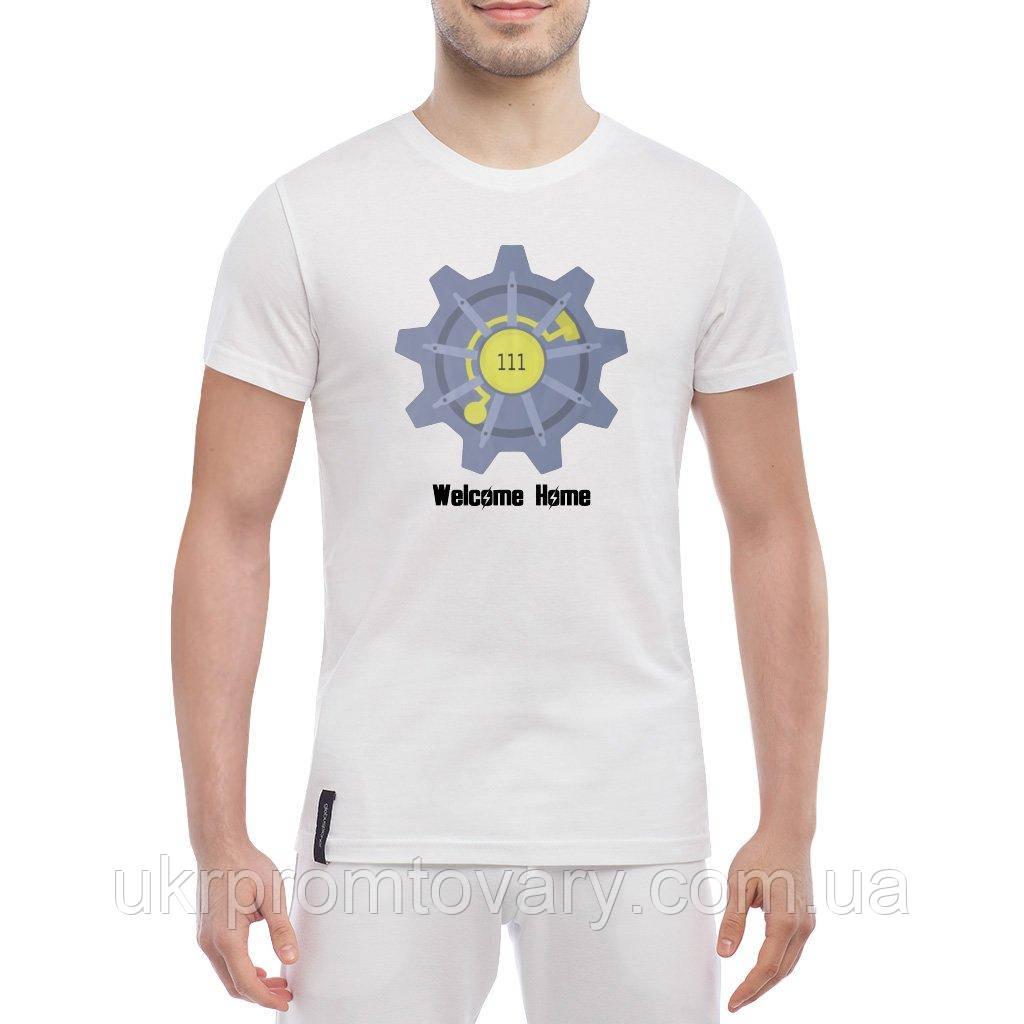 Мужская футболка - welcome home, отличный подарок купить со скидкой, недорого