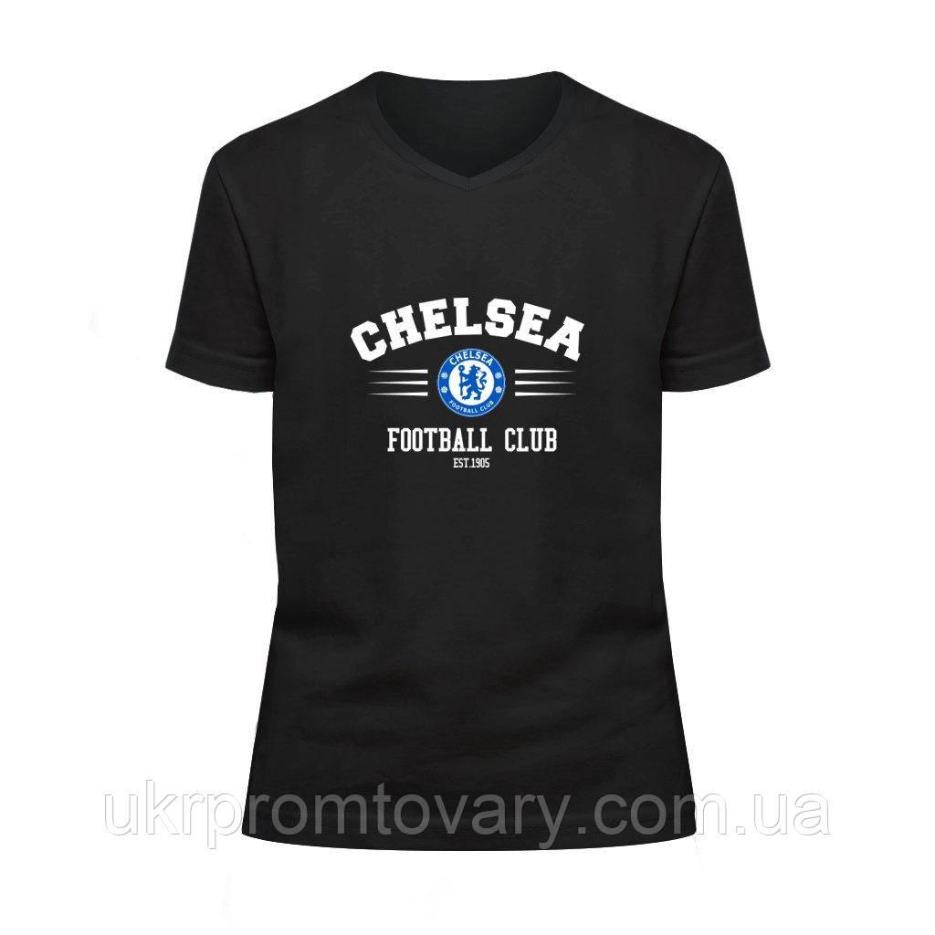 Футболка детская V-вырезом - Chelsea, отличный подарок купить со скидкой, недорого
