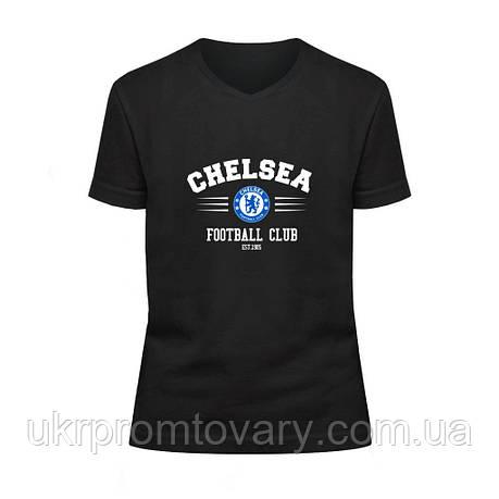 Футболка детская V-вырезом - Chelsea, отличный подарок купить со скидкой, недорого, фото 2
