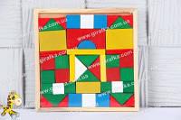 Конструктор-мозаика деревянный Городок W02-480