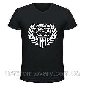 Футболка мужская V-вырезом - Valencia Club de futbol, отличный подарок купить со скидкой, недорого, фото 2