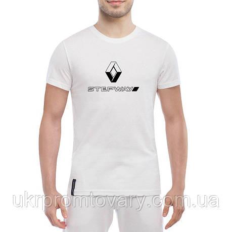 Мужская футболка - Renault Sandero Stepway logo, отличный подарок купить со скидкой, недорого, фото 2