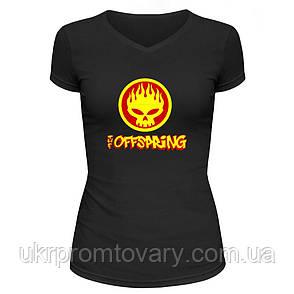 Футболка женская V-вырезом - The Offspring, отличный подарок купить со скидкой, недорого, фото 2