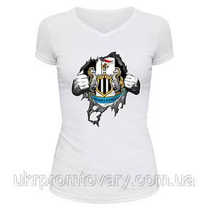 Футболка женская V-вырезом - Ньюкасл, отличный подарок купить со скидкой, недорого, фото 2