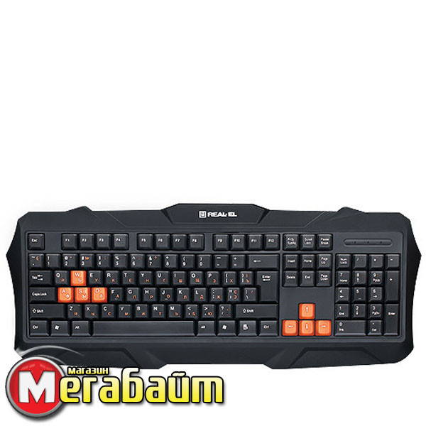 Клавиатура REAL-EL Gaming 8400 USB черный