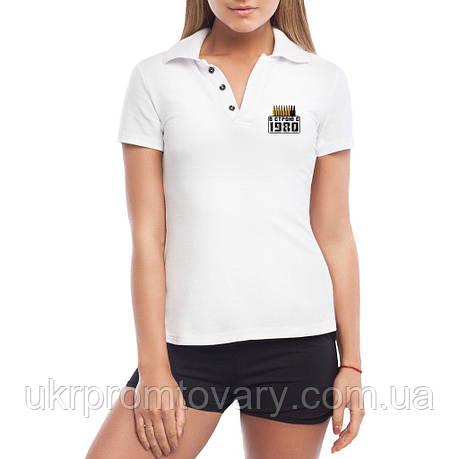 Женская футболка Поло - В строю с 1980, отличный подарок купить со скидкой, недорого, фото 2