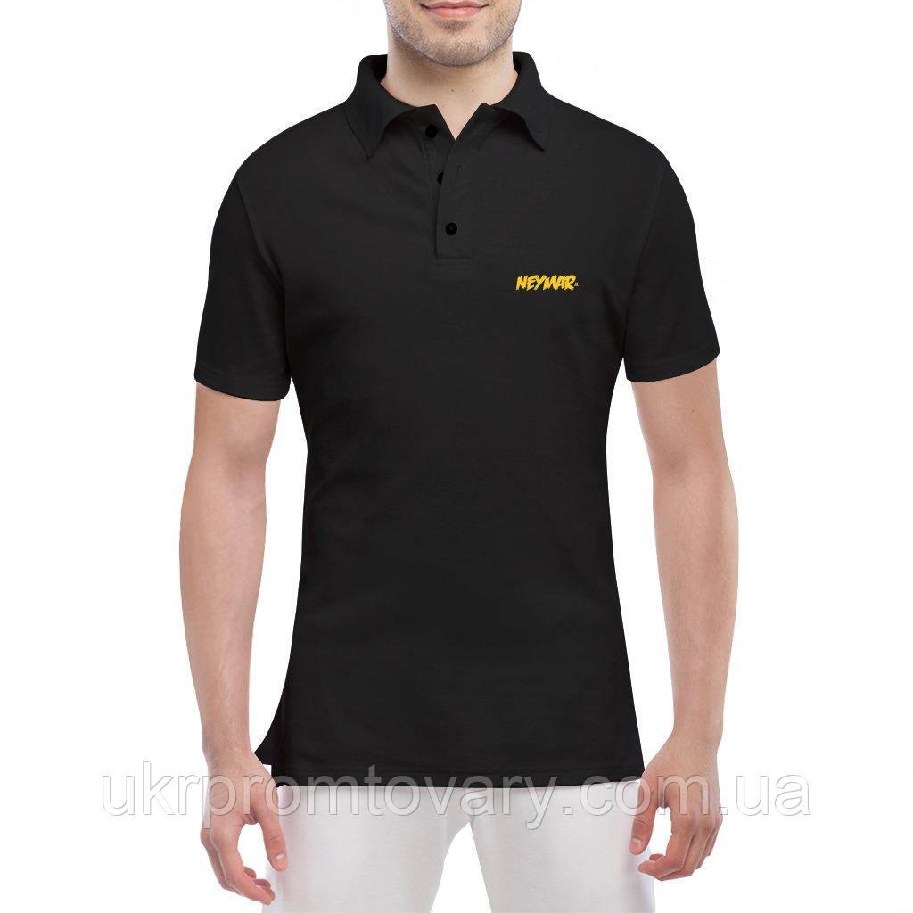 Мужская футболка Поло - Neymar Jr, отличный подарок купить со скидкой, недорого