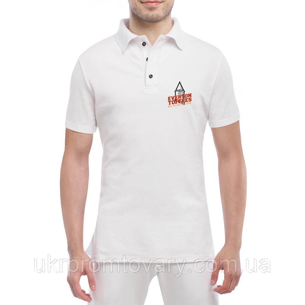 Мужская футболка Поло - we fear no one, отличный подарок купить со скидкой, недорого