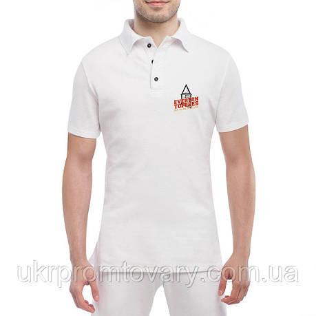 Мужская футболка Поло - we fear no one, отличный подарок купить со скидкой, недорого, фото 2