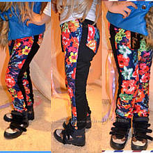 Детские брюки, плащёвка + трикотаж на флисе, р-р 110; 116; 122; 128; 134 (синий)