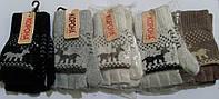 Подростковые шерстяные перчатки митенки Корона 7174 размер 20 см