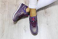 Женские Кроссовки New Balance 574  эко-кожа цвет:сиреневый перламутр