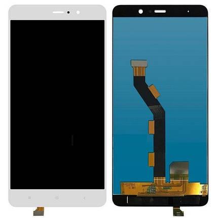 Дисплей (экран) для Xiaomi Mi5s Plus с сенсором (тачскрином) белый, фото 2
