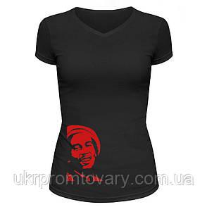 Футболка женская V-вырезом - Боб Марли, отличный подарок купить со скидкой, недорого, фото 2