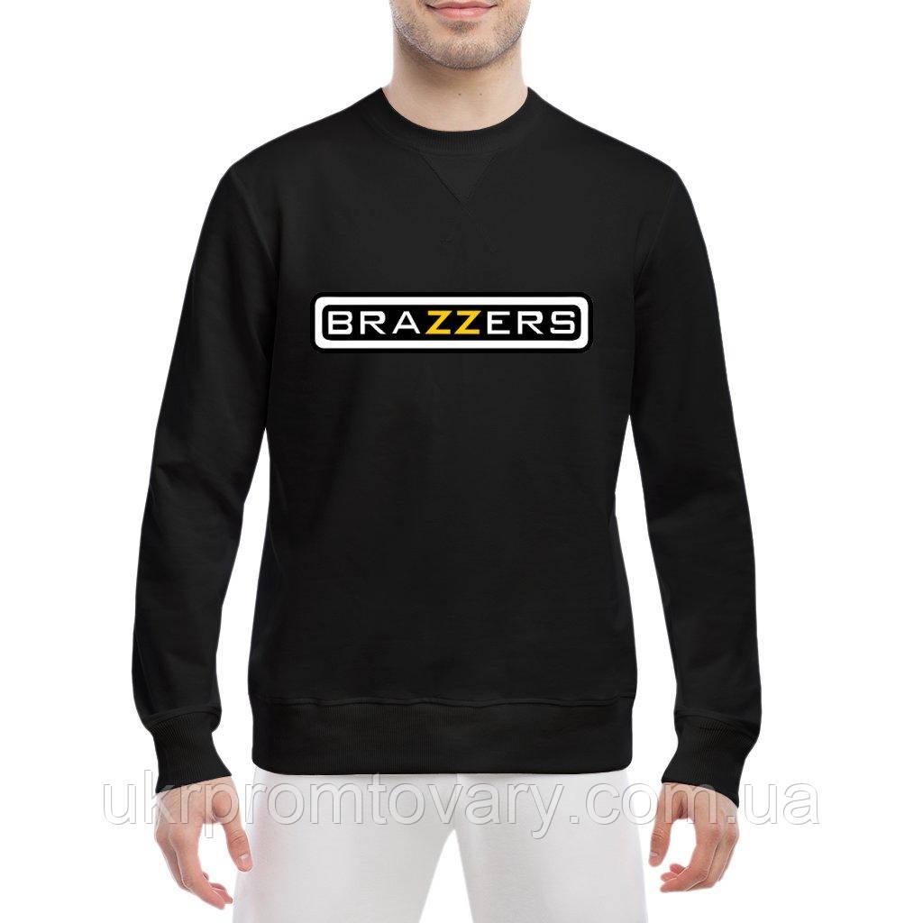 Свитшот мужской - BRAZZERS логотип, отличный подарок купить со скидкой, недорого