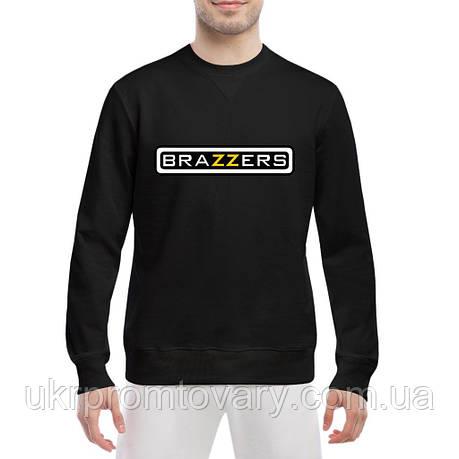 Свитшот мужской - BRAZZERS логотип, отличный подарок купить со скидкой, недорого, фото 2