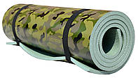 Коврик (каремат) туристический армейский OSPORT Камуфляж 8мм (FI-0044)