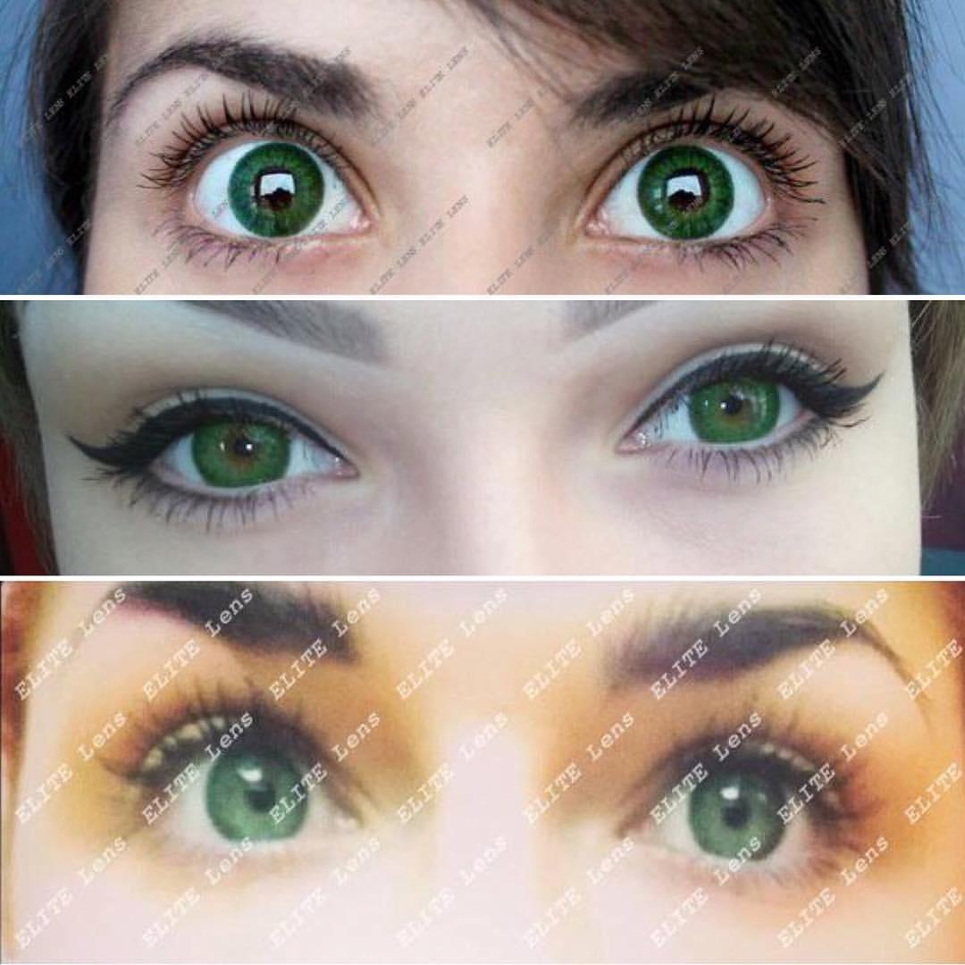 будут зеленые линзы на карих глазах фото основном все