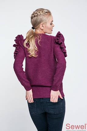 Женский вязаный свитер с рюшами, фото 2