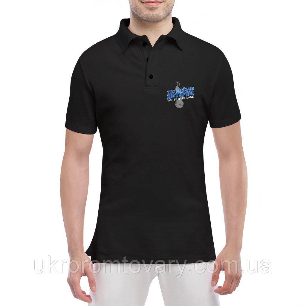 Мужская футболка Поло - white hart line, отличный подарок купить со скидкой, недорого