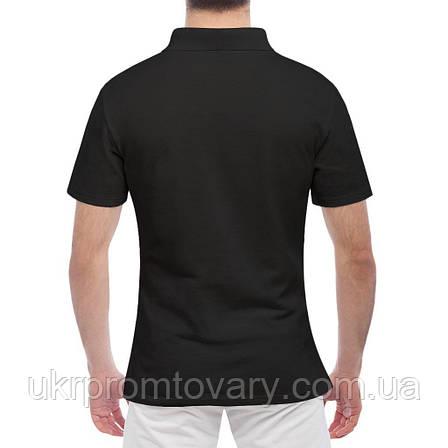 Мужская футболка Поло - white hart line, отличный подарок купить со скидкой, недорого, фото 2