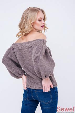 Модный женский свитер со спущенным плечом, фото 2