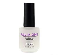 Универсальное покрытие 3 в 1 Naomi All-in-One, 15 мл