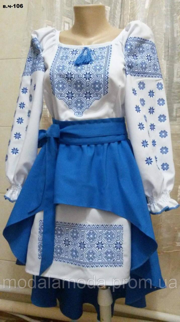 Вышитое красивое детское платье