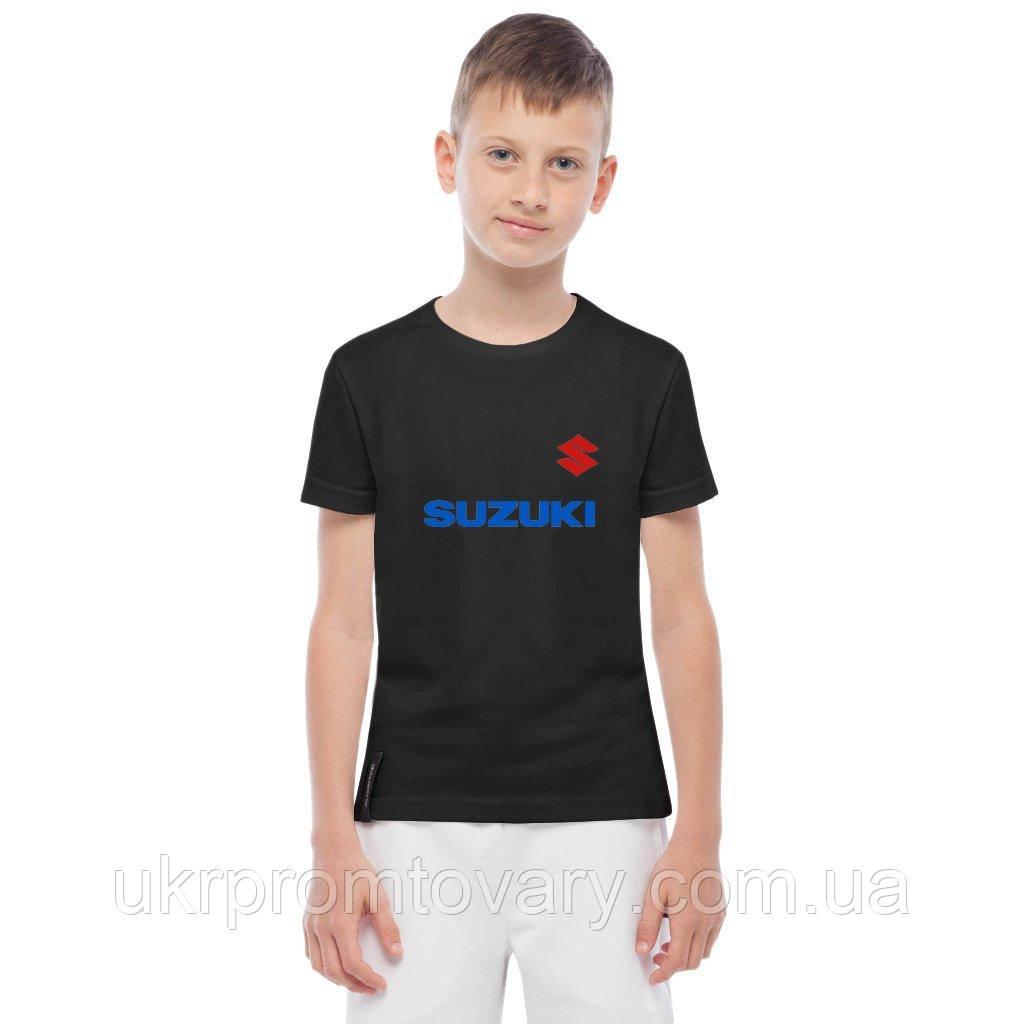 Футболка детская - Suzuki wordmark logo, отличный подарок купить со скидкой, недорого