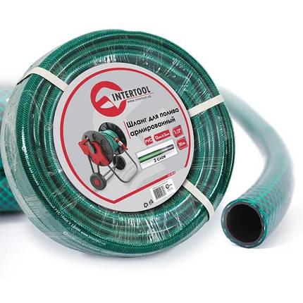 "Шланг для полива 3-х слойный 1/2"", 20м, армированный PVC INTERTOOL GE-4023, фото 2"