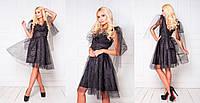 Нарядное платье выполнено из легкого фатина (разные цвета)