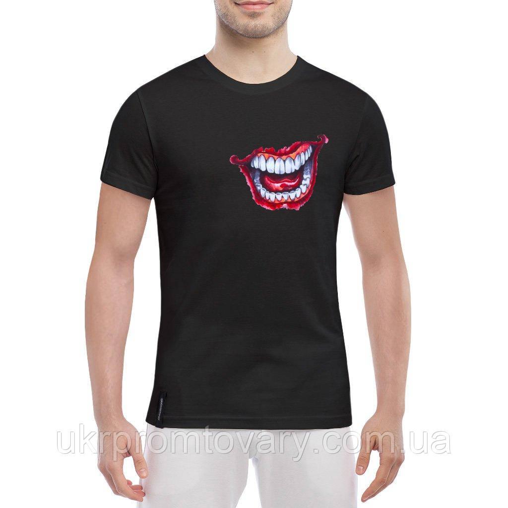 Мужская футболка - Joker smile, отличный подарок купить со скидкой, недорого
