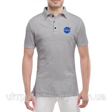 Мужская футболка Поло - NASA, отличный подарок купить со скидкой, недорого, фото 2