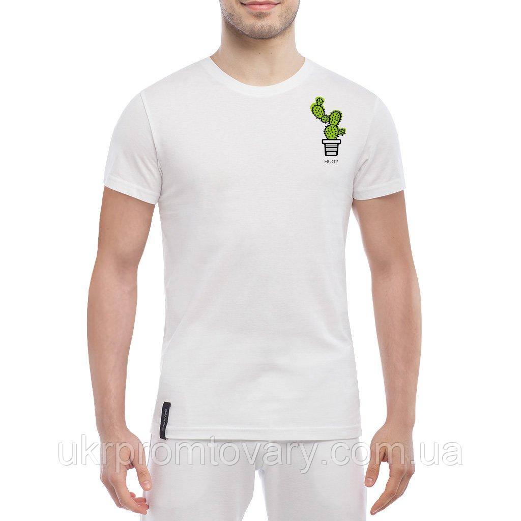 Мужская футболка - Обнимемся?, отличный подарок купить со скидкой, недорого
