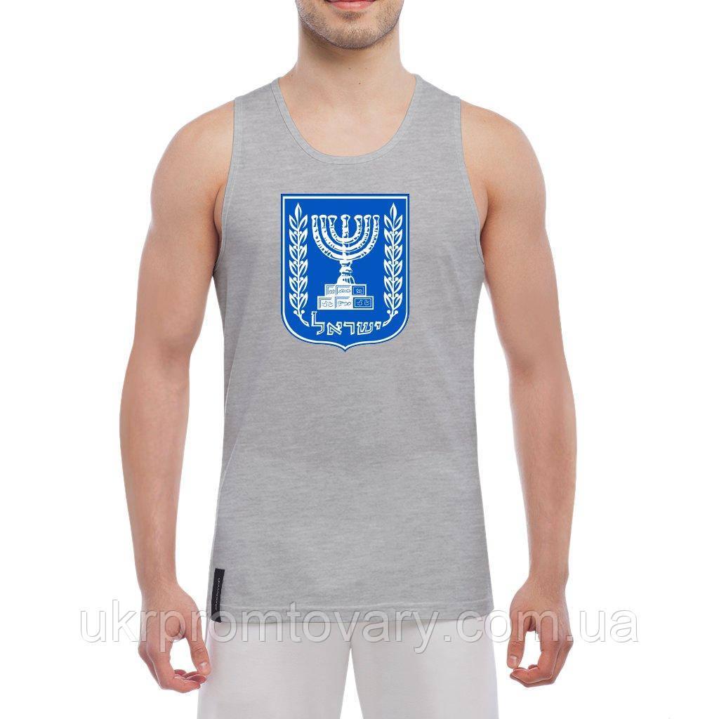 Майка мужская - Герб Израиля, отличный подарок купить со скидкой, недорого